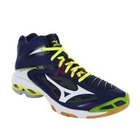 MIZUNO WAVE LIGHTNING Z3 MID - BLUE DEPTHS   WHITE   SAFETY YELLOW  45  93c3c6424a
