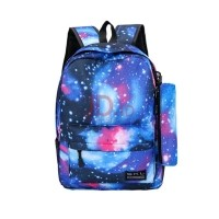 LESHP Men Women Canvas Backpack Starry Sky Printed Students School Bag +  Small Multicolor 5eeb9e7b9f844