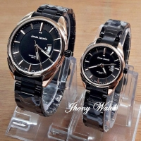 JAM TANGAN COUPLE JONAS JASMIN JJ-2064 DATE BLACK GOLD ORIGINAL (25446140) 1306b5e707
