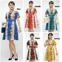 Batik Dress Kombinasi Brokat Md