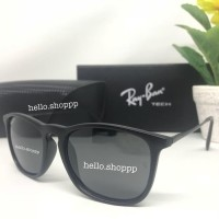 Kacamata Rayban Chris Hitam Doff Lensa Polarized - Sunglasses (19836070) 441361e7db