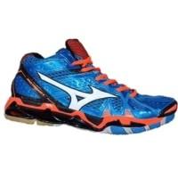 Sepatu Volly Pria - Mizuno Wave Tornado 9 X Mid Volleyball Shoes Blue White  Orange ( 242f1a5f09