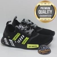 d65ee1cb8 Big Promo D0zdm1y Sepatu Adidas Nmd R1 Black White Yellow X Off White  Premium Quality Original