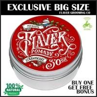 Pomade FLAVER Strawberry 3OZ Oilbased Deluxe Pomade Minyak Rambut Natural  Beeswax GRATIS SISIR (25784860) ba3fe8789e