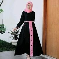 Daftar Harga Casandra Tunik Syari Baju Hijab Muslim Dress Bulan