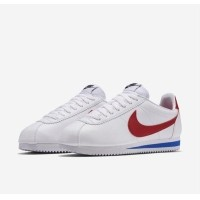 Nike Cortez Leather White Red Blue 25977853