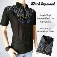 Kemeja Slimfit Kombinasi Batik Cap Hight Quality Batik Pekalongan Best Seller Kemeja Batik Pria Batik Modern 26156718