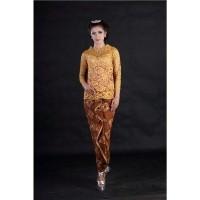 Atasan Baju Pesta Kebaya Kuning Brokat Lengan Panjang Atasan Kebaya Wisuda Kuning Kebaya Brokat Modern 26232782