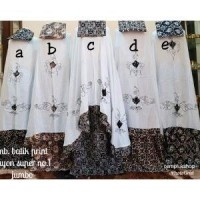 ECER mukena batik kelengan bordirstik putih jumbo (26363218) fe7597b9a4