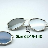 kacamata hexagonal Silver UV protection Kacamata Fashion Kacamata gaya  (26708141) 63f2f2eb64