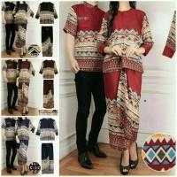 AD ราคา Baju Busana Muslim Batik Couple Family Cp Serri 3in1  77a34db9c2