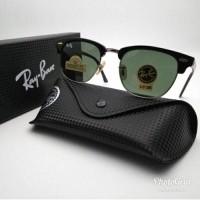 kacamata sunglasses Pria wanita RAYBAN Clubmaster 3016 hitam silver  (24882870) 3a521fa69d