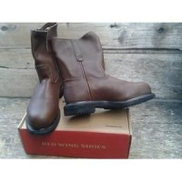 Original Red Wing Shoes Safety 8241 Mens 8-inch Pull-On Boot Brown ( 232f7eaae3