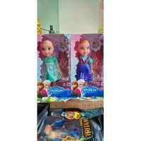 Paket 2 buah boneka FROZEN ANNA dan ELSA bisa nyanyi LET IT GO bonus jam  tangan 026e55a70e