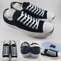 afac28beafdb Sepatu Skate Converse All Star Jack Purcell Canvas Low Black White  (27681700)