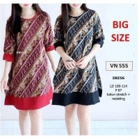 SEVN555 - dress batik tunik large etnik tribal modern muslim parang  ba56c55cd3
