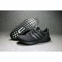 22d798cb8c3 Sneakers Adidas UltraBoost 4.0 FULL TRIPLE BLACK Sepatu Ultra Boost PK -  Hitam