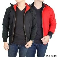 jaket pria keren modis parasut merah hitam jak 2248 by Gudang Fashion  (130028030) d27c496b71