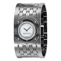 a3b81efe652 GUCCI Women s YA112415 112 Diamond Bangle Mother-of-Pearl Dial Watch
