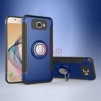 Santac Samsung Galaxy J7 Prime Case Car Holder Stand Magnetic Suction Bracket Finger Ring TPU