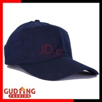 Gudang Fashion Topi Polos Basic Twill Pria - Black   TOP 02+A (501803562 bd58825da5