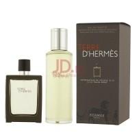 Hermes Terre D Hermes Man EDT (Refillable Set) - 30 + 125 ML ( 2019dbcfcf