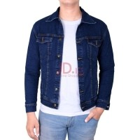 Gudang Fashion Jaket Jeans Pria Smart Casual Denim - Biru Tua   JAK 2262+A 9139fe2d05