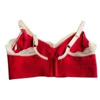 09da881465b5f Farfi Lace Rim Nylon Wireless Soft Cup Padded Full Cover Nursing Bra Women  Underwear Red L