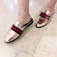 Jual 20 HK Import Mirror Quality ING Gucci Flat Shoes Gold . Flat Shoes  Sepatu KW1 6154509a15
