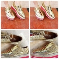 Jual 79 HK Import Mirror Quality ING Prada Gold . Loafers Sepatu Premium  Quality  3e3b5e41d5