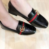 Jual 96 HK Import Mirror Quality ING Gucci Hitam . Flat Shoes Sepatu Semi  Premium Quality f88372799d