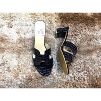 Jual 45 HK Import Mirror Quality Cco Hermes Biru Dongker . Heels Sepatu  Semi Premium Qual 897e59ae11