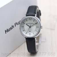 Jual Jam Tangan Wanita   Cewek Hush Puppies New Leather Black Silver  93f17a58ce