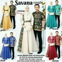 HEBOH Baju Batik Couple Gamis Savana Harga Grosir Termurah 80c7308c87