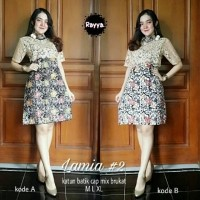 Daftar Harga Dress Batik Kombinasi Brokat Bulan April 2019
