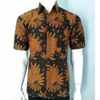 Kemeja Batik   Hem Batik Pria Sogan Bunga Padi Keren Bahan Premium a4c6ffedbd