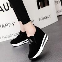 Sepatu Wedges Platform Casual Bahan Suede Imitasi untuk Wanita bca44da2c8