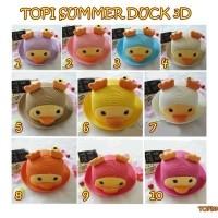 TOPI15 TOPI SUMMER DUCK 3D TOPI ANAK LUCU   TOPI BEBEK   TOPI DUCK bf46815fac