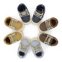 Sepatu Bayi Import Prewalker Shoes Anak Bayi Laki-Laki Denim Tali 85a05c03c4
