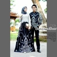 Radent Batik Couple Gamis Brokat Mustika Abu