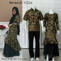 Pinilih Mermaid Couple Batik Tille Batik Sarimbit Model Gamis Rok Duyung Mayung Kondangan Nikahan