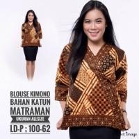 Blouse Batik Model Kimono Atasan Batik Wanita Model Kimono Baju Batik Wanita Model Kimonk