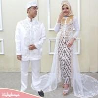 Murah Couple Kebaya Ekor Pengantin Tile Peyet Modern Kebaya Pernikahan Kebaya Akad Ekor Payet