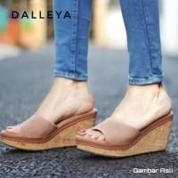 Lilyshoes MAHESA - real pict Dalleya SUPER MURAH sandal wedges wanita  casual santai simple cantik( bc0911494c