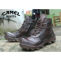 CAMEL - Sepatu Boots Pria Keren Sepatu CAMEL Safety KULIT Sepatu gunung  haiking (CAMEL LOKAL 75ed931624