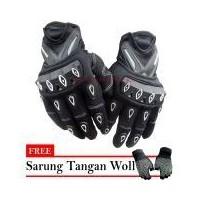 Scoyco Sarung Tangan Scoyco MC-10 Lis Putih - Hitam + Free Sarung Tangan  Woll 073017504c