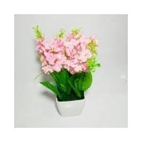 Tanaman Rangkaian Bucket Buket Bunga Pohon Plastik Artificial Artifisial  Sintetis Pot Vas Melamin Hiasan - Lavender 03301e5d84