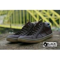 sepatu casual sneaker pria kulit black master geox original (392896876) 26704cf11b