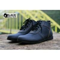 sepatu kulit pria casual semi boots black master brodo - sepatu formal  black master brodo original f4d4ff994a