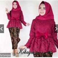 indonesiaHeritage Setelan Kebaya Modern Brukat Brokat + Rok batik Silk - Setelan  Batik Wanita Seragam Kebaya 2bae7d1a87